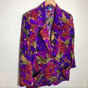 Jackets & Blazers - Vintage Nancy II Basics Floral One Button Blazer